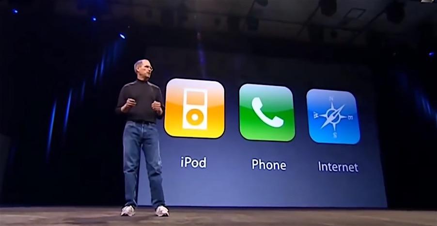 3 en uno - iPhone - Keynote - Steve Jobs