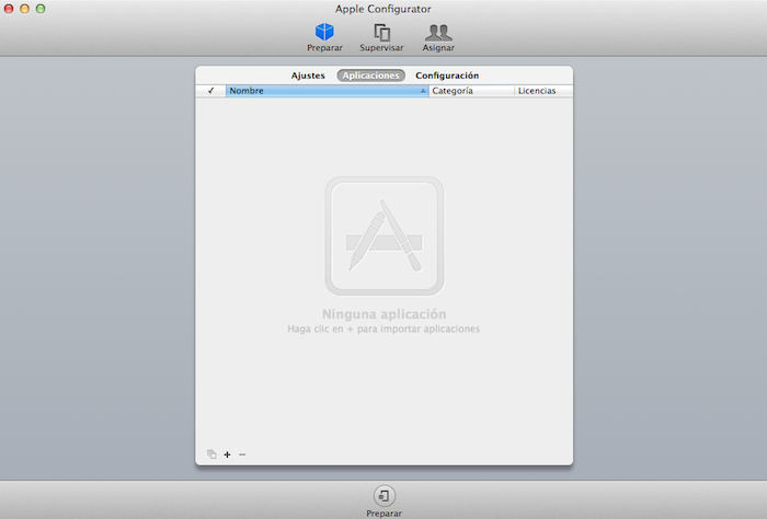 Apple Configurator Aplicaciones