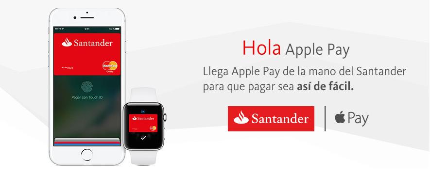 Apple Pay ya está disponible en España con Banco Santander
