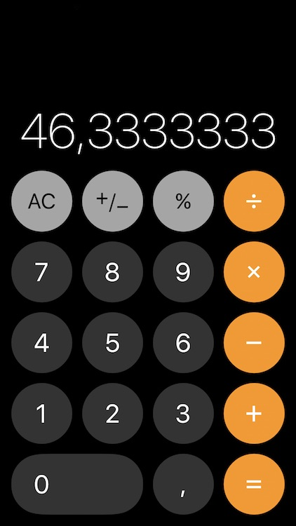 Calculadora iOS 11