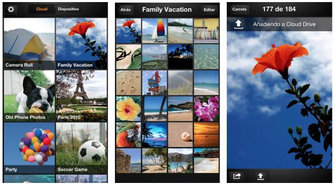 Amazon CLoud Drive Photos Interfaz iOS