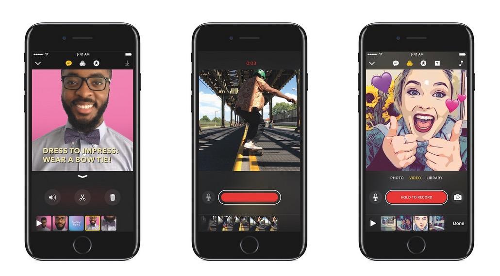 Clips - aplicación de apple para crear vídeos virales
