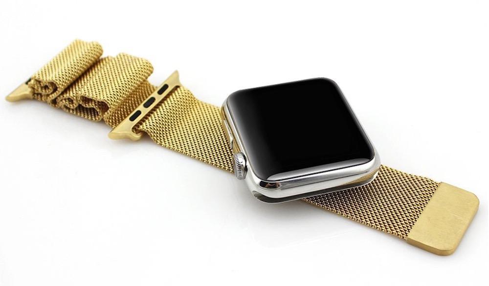 Correas Apple Watch - milanesa oro