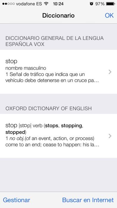 Diccionarios iOS 7 1
