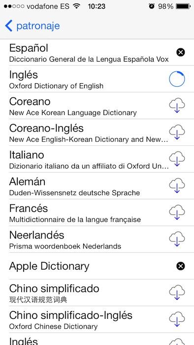Diccionarios iOS 7 3