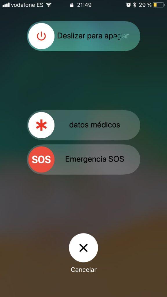 Emergencia iOS℗ 11