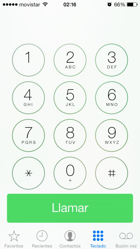 teléfono marcado beta 4 iOS 7