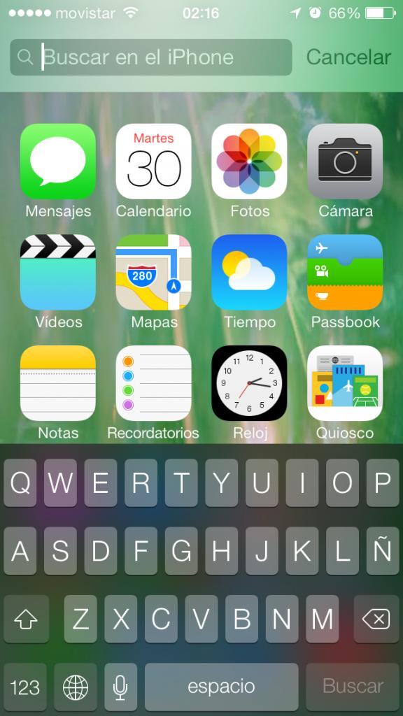 Spotlight beta 4 iOS 7