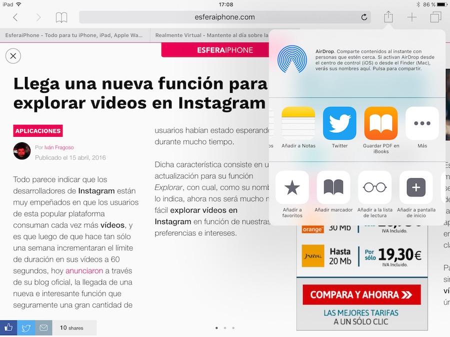 Guardar PDF - Safari