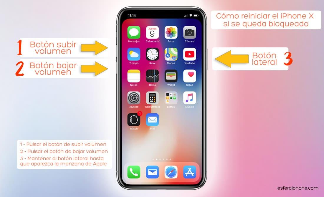"""Guía de uso: ¿Cómo reiniciar el iPhone X si se queda bloqueado/congelado"""""""