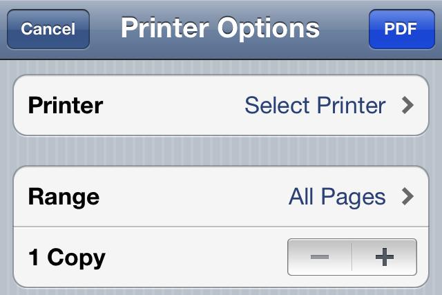 PDF Printer ventana conversión
