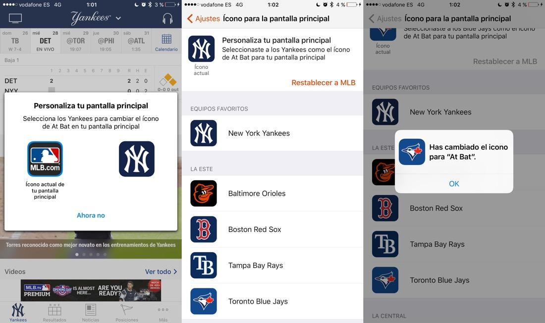 Iconos apps iOS℗ 10.3