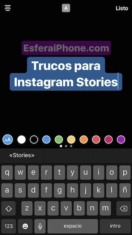 Estilos de texto Instagram℗ Stories