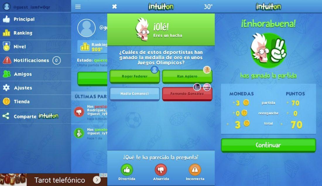 Intuiton, juego de preguntas online para iOS