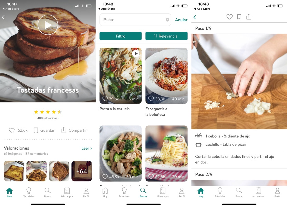 Kitchen Stories - App de recetas