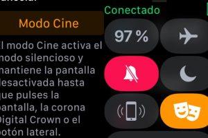 Modo Cine Apple Watch