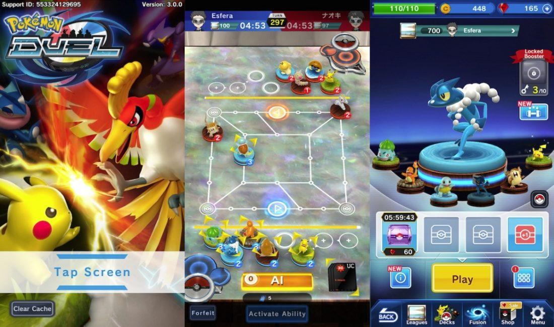 Pokémon Duel sale de Japón y ya está disponible en varias App Store