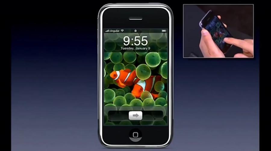 Slide to unlock - iPhone - Keynote