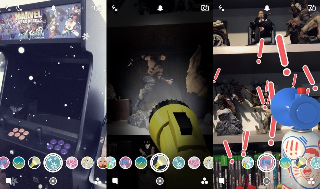 Filtros Snapchat cámara trasera