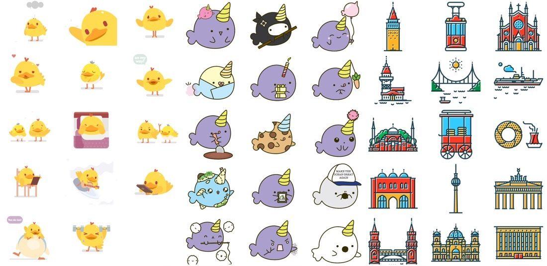 Stickers para iMessage - Selección mayo