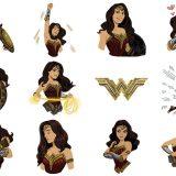 Wonder Woman Stickers para iMessage
