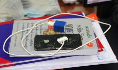 iPhone calcinado Tailandia