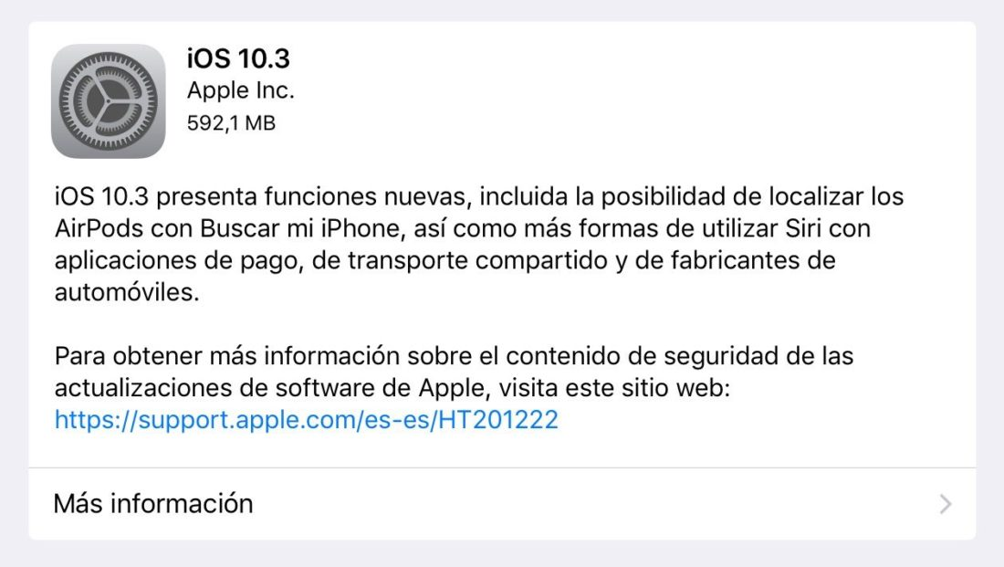 iOS 10.3 para iPhone, <stro />iPad℗</strong> y iPod Touch&#8221; width=&#8221;1260&#8243; height=&#8221;711&#8243; srcset=&#8221;http://www.esferaiphone.com/uploads/iOS-10.3.jpg 1260w, http://www.esferaiphone.com/uploads/iOS-10.3-300&#215;168.jpg 300w, http://www.esferaiphone.com/uploads/iOS-10.3-768&#215;433.jpg 768w, http://www.esferaiphone.com/uploads/iOS-10.3-1024&#215;578.jpg 1024w, http://www.esferaiphone.com/uploads/iOS-10.3-470&#215;264.jpg 470w, http://www.esferaiphone.com/uploads/iOS-10.3-640&#215;360.jpg 640w, http://www.esferaiphone.com/uploads/iOS-10.3-215&#215;120.jpg 215w, http://www.esferaiphone.com/uploads/iOS-10.3-990&#215;559.jpg 990w&#8221; sizes=&#8221;(max-width: 1260px) 100vw, 1260px&#8221; /></p> <p><span id=