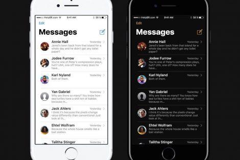 Concepto iOS 11 - Modo oscuro