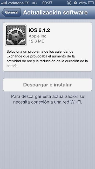 612 exchange iOS fix