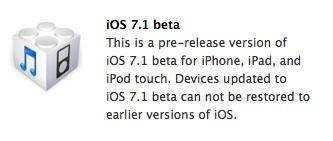 iOS 71 beta
