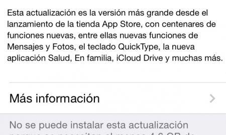 iOS 8 actualizacion