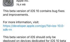 iOS 10 beta 6