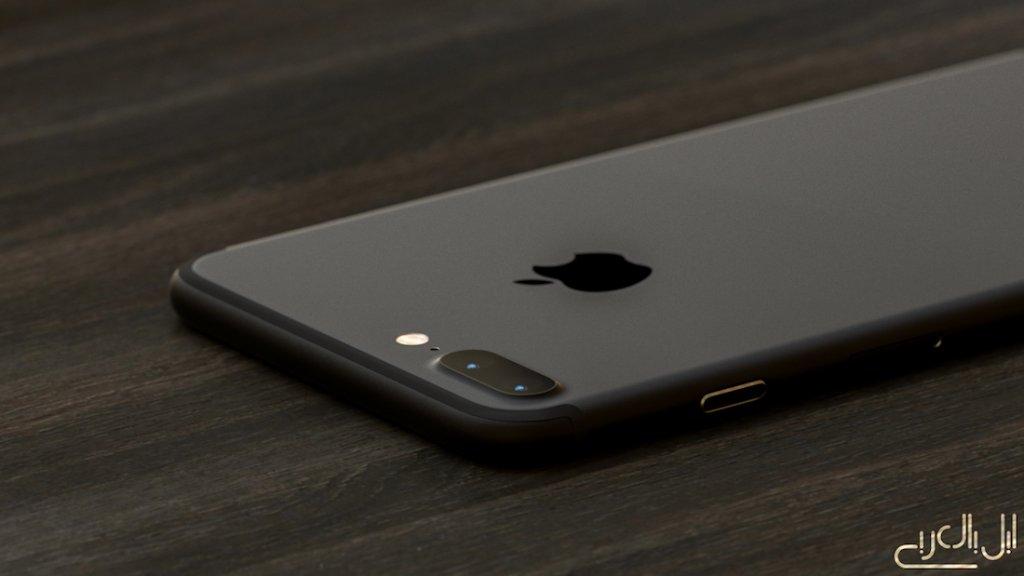 iPhone 7 render mate black