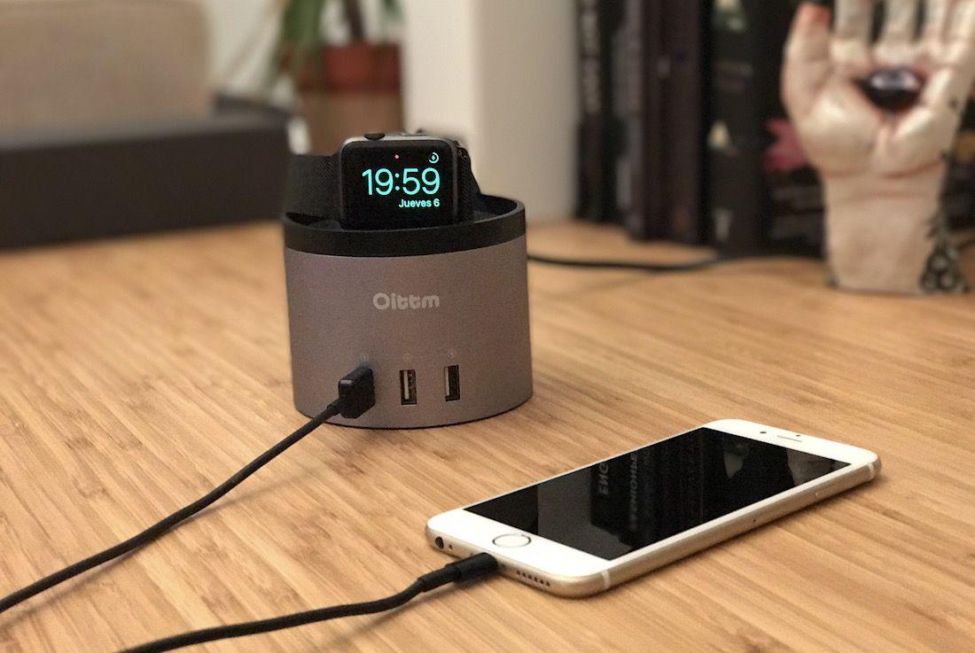 Base de carga/dock para iPhone y Apple Watch Oittm
