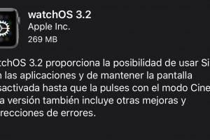 watchOS 3.2 para Apple Watch